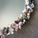 Beach Decor Seashell Mirror - Nauti..