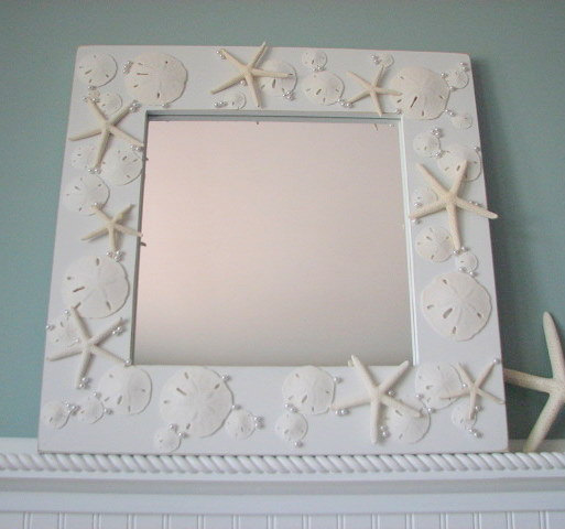 Shell Mirrors For Beach Decor Seashell Mirror In All