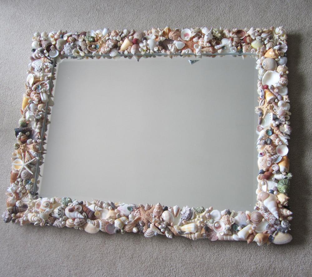 Seashell Mirrors For Beach Decor - Nautical Decor Shell ...