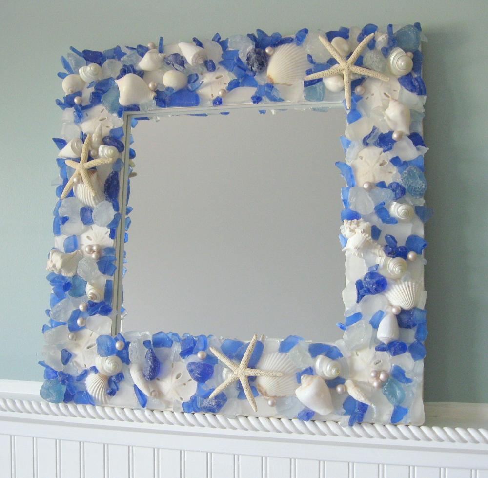 Seashell Mirrors For Beach Decor