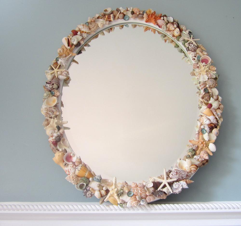 Beach Decor Seashell Mirror Nautical