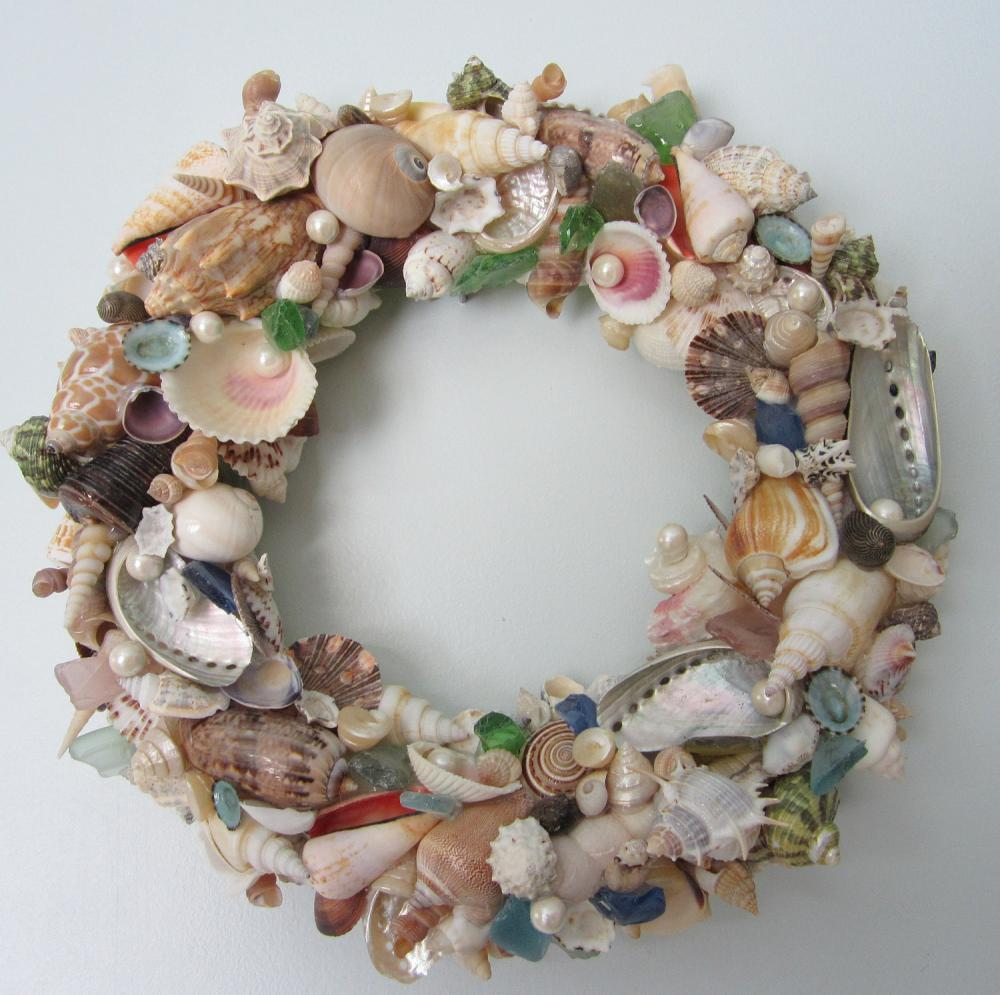Seashell Wreath For Beach Decor