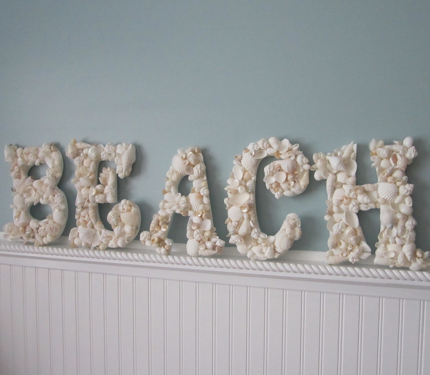 Beach Decor Seashell Letters - Nautical Shell Letters Spell BEACH ...