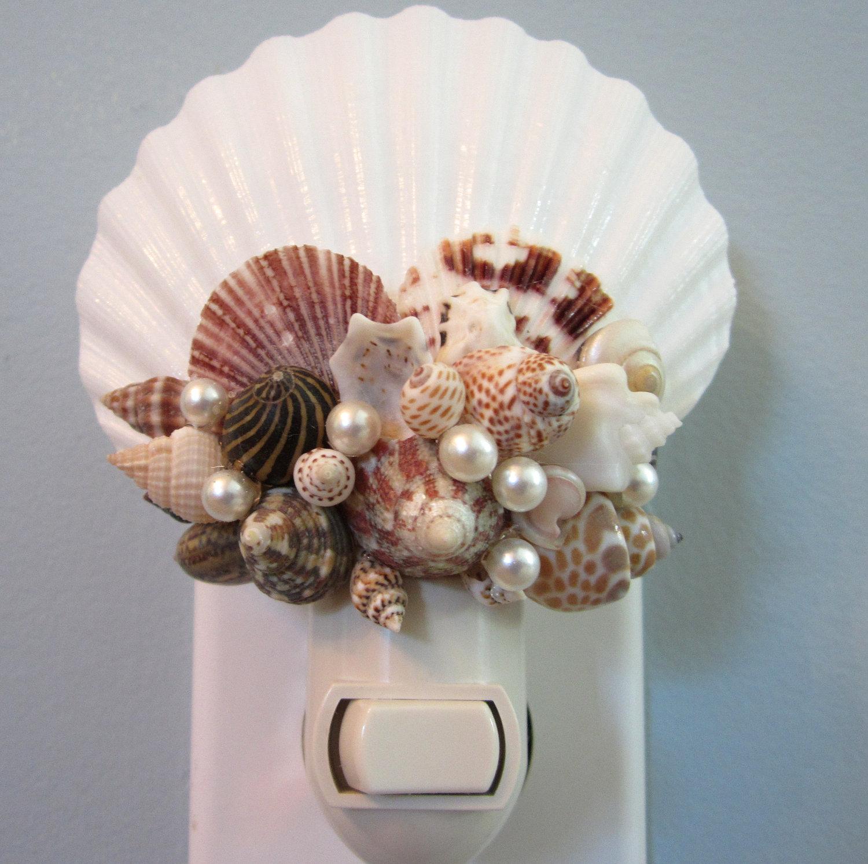 Beach Decor Seashell Night Light - Nautical Decor Shell ...
