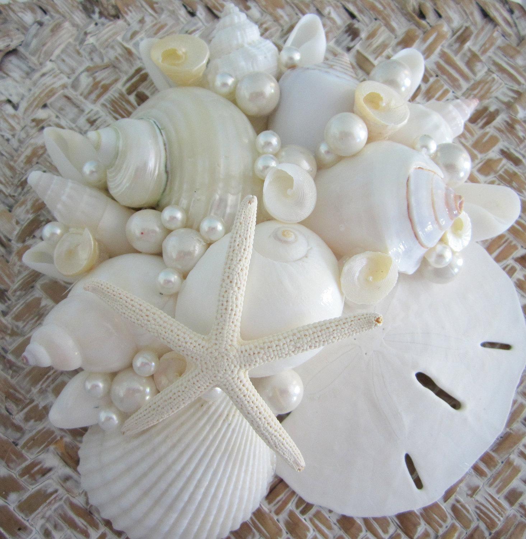 Free Shipping 4pcs Shell Pearl Beach Wall Painting Print: Beach Decor Seashell Box Set Of 3