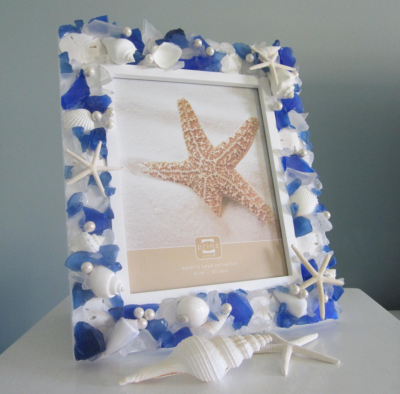 Free Shipping 4pcs Shell Pearl Beach Wall Painting Print: Nautical Seashell Frame W Sea