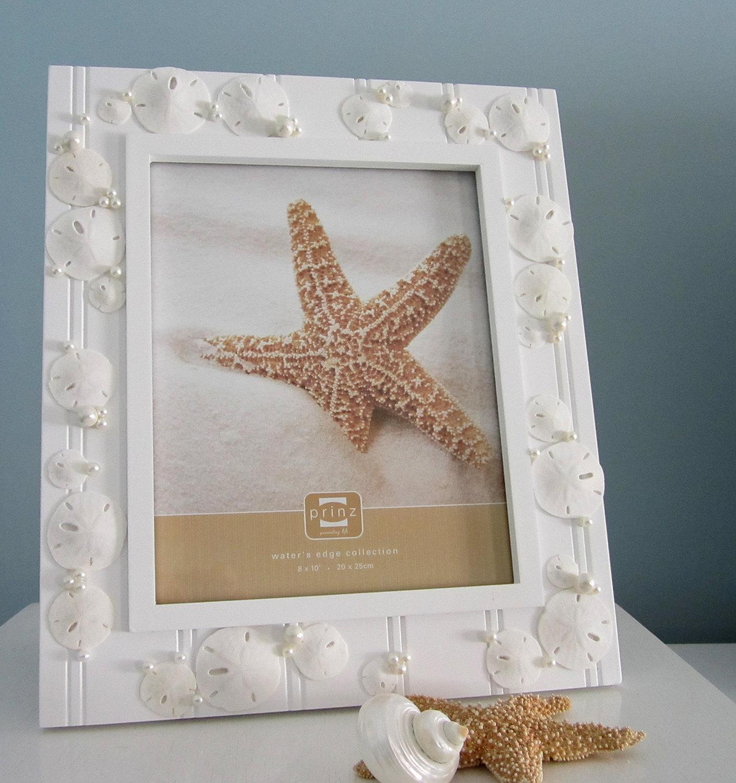 Free Shipping 4pcs Shell Pearl Beach Wall Painting Print: Nautical Beach Decor Shell Frame W Sand